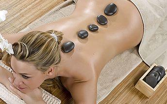 Jen 190 Kč za hodinovou uvolňující masáž lávovými kameny.