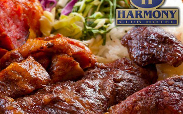 Luxusní tříchodové menu pro dva v restauraci hotelu Harmony Club se slevou 42 %.