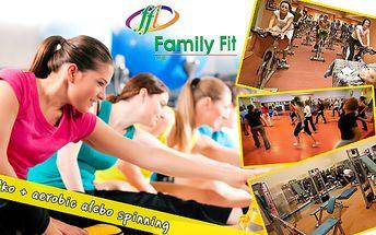 Cvičením k dokonalým krivkám. Vstup do fitka + aerobic alebo spinning len za 2,90€