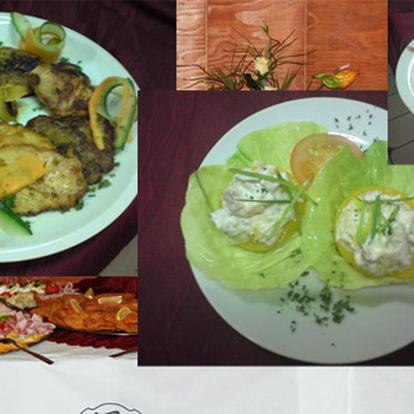 Báječné tříchodové menu pro dva v restauraci v podhradí špilberku! Vystoupejte až na růžový obláček labužníkových snů!!