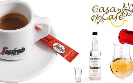 Exkluzivní degustace (až 5 osob) pravé italské kávy, Grappy a nebo Sambucy!