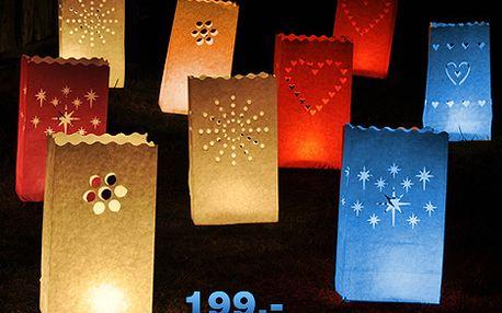 Skvělé dekorativní svítilny pro čajové svíčky zpestří vaše oslavy, výročí či jiné společenské události! Na výběr máte z 6 různých motivů. 10 ks svítilen za 199,-
