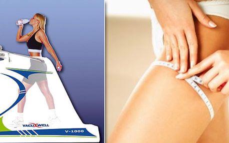 Cvičení na stroji VacuWell, speciální skořicové ošetření dolních končetin a zadečku pro zpevnění kůže a odstranění celulitidy a kávový peeling a lifting nohou.