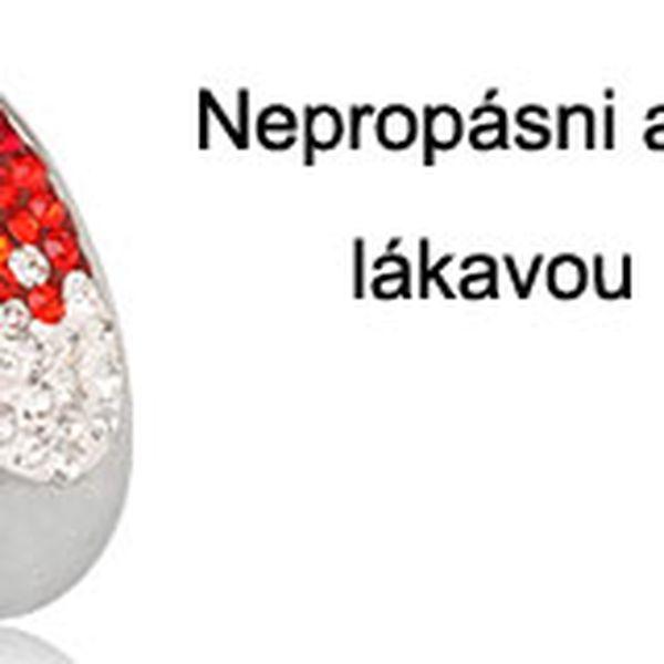 Ocelový prsten s krystaly Swarovski