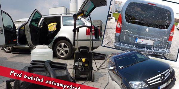 Jarná super ponuka Prvej mobilnej autoumyvárne - kompletné ručné vyčistenie a vytepovanie interiéru vášho auta len za 19,90€