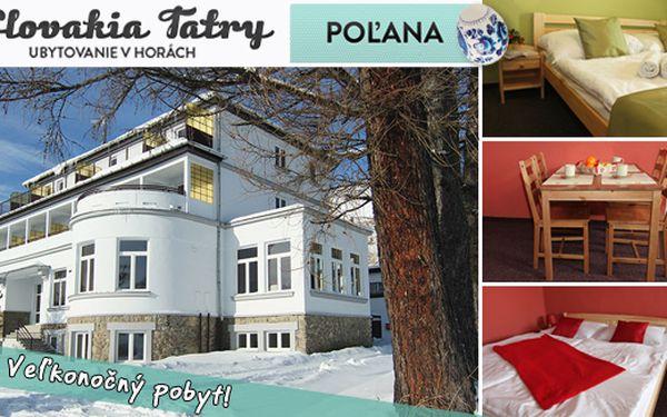 Užite si Veľkú noc vo Vysokých Tatrách len za 83,60€ - pozývame vás do štýlového a komfortného Penziónu*** Poľana. Akcia je limitovaná do vypredania kapacity Penziónu.