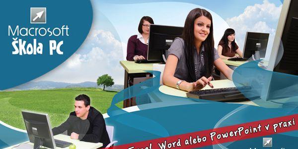 Zdokonaľte si svoje počítačové zručnosti za bezkonkurenčnú cenu 29,90€ (vrátane DPH)! Vyberte si počítačový kurz Excel v praxi, Word v praxi alebo PowerPoint v praxi so zľavou 58%.