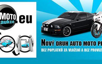 Využíváte elektronickou inzerci k prodeji / k nákupu vozu či motocyklu? Za 89,- u nás získáte kredit na zvýhodnění v hodnotě 500 Kč! Na MotoAukce.eu Vás již nikdo nepřehlédne!