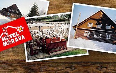 Pobyt pro dvě osoby na horském hotelu MORAVA se 49% slevou. Objevte krásy Králického Sněžníku a jeho okolí. Na lyžích, na kole nebo pěšky, nudit se nebudete!