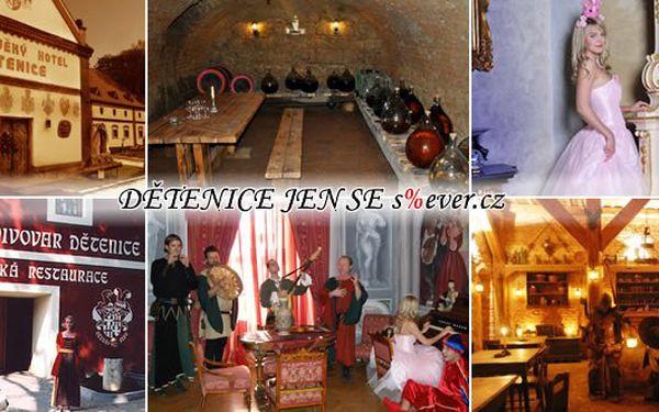 Sleva 56% na návštěvu středověkého resortu v dětenicích s ubytováním pro 2 osoby. Balíček obsahuje 1 noc ve středověkém hotelu se snídaní, návštěvu středověké krčmy s neomezenou konzumací piv, pohádkovou prohlídku zámku se šípkovou růženkou, vstup do záme