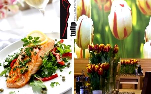 Jen 390 Kč za tříchodové menu pro DVĚ osoby ve stylové restauraci Tulip – ochutnejte domácí kuchyň a romantickou atmosféru!