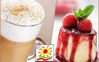 Dvě Caffé latté speciále včetně dvou lahodných italských dezertů