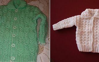 Objednejte si ručně pletené dětské výrobky - dětský svetr ve velikosti od 67 do 96 a potěšte své miminko a nejen jeho :))))