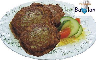 Neskutečná 60% SLEVA! Zajděte si na 3 ks výborných tvarůžků v bramboráku za úžasných 38 Kč. Původní cena je 97 Kč! Dejte si tradiční pochoutku v příjemné restauraci Babylon v Ostravě.