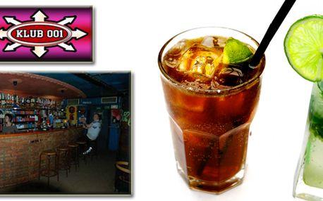 Absolutní bomba! 2 drinky a vstup do klubu 001 na Strahově za 85 Kč!