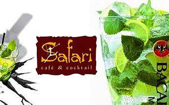 """Bezkonkurenční ,,MAXI MOJITO"""" za neuvěřitelných 229Kč! Původní cena 474Kč! Slevíkujte se slevou 52%.*Přijďte na drink do Safari baru v Opavě na Olomoucké ulici."""