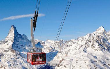 5 dní lyžování pod Matterhornem, pro 2 osoby, ubytování s polopenzí pouze za 8232 Kč z původních 16 800 Kč