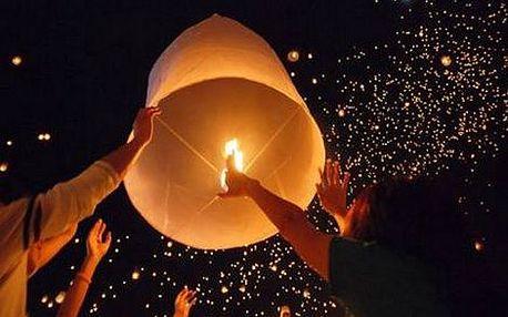 99 Kč místo 199 Kč za 5 ks lampiónů štěstí dle vlastního výběru! Zpestřete si jaro kouzelným thajským rituálem a vyšlete své přání do oblak s 51% slevou! K dostání lampióny v 8 barvách i lampióny ve tvaru srdce.