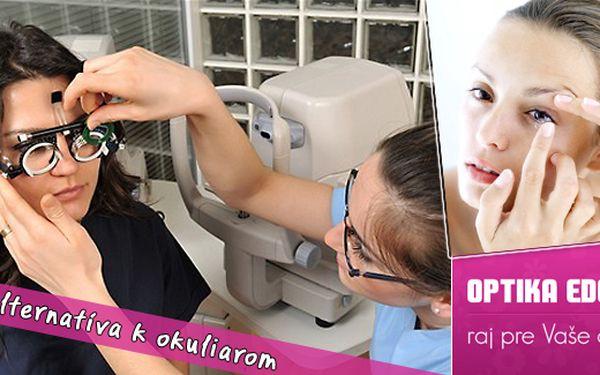 Využite jedinečnú príležitosť na vyšetrenie zraku, vyšetrenie na kontaktné šošovky a aplikáciu očným lekárom - to všetko so 60% zľavou iba v Optike Eden.