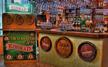 Cenová pecka! Pouhých 299 Kč za konzumaci jídla a pití v hodnotě 1000,- Kč v restauraci SVĚT PIVA! Objednejte si cokoli z jídelního a nápojového lístku včetně 31 druhů točených piv s úžasnou slevou 70%.