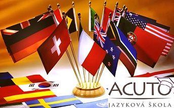 Naučte se do léta italsky nebo anglicky! Jazyková škola acuto nabízí lekce aj nebo it za úžasných 2260 kč! Nejmenší skupinky v praze, 2 individuální hodiny, 2 gramatické semináře, čeští lektoři i rodilí mluvčí!