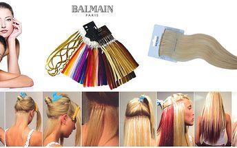 Prodloužení vlasů až o 30 cm - 8200 Kč za prodloužení vlasů metodou keratin Balmain Paris v hodnotě 14500 Kč! K prodloužení je použito 60 pramenů o délce 30 cm, spoje jsou neviditelné, na výběr máte z 24 barevných odstínů rovných, vlnitých i kudrnatých pr