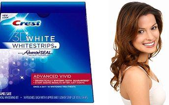 Bělící pásky na zuby Crest Advanced Vivid 12%! Vybělí zuby během tří dnů! Odstraní i zubní plak a zabrání usazení nových skvrn!