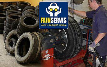 Přezutí pneumatik Vás ve Fajnservisu nyní vyjde jen na 385 Kč. Využijte pro Vaše plechové miláčky fajnovou slevu 45%.
