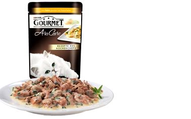 Lahodné kapsičky pro kočky! Podle nejnovější receptury předních specialistů na kočičí jídelníček! Kočky přímo zbožňují Gourmet A la Carte!