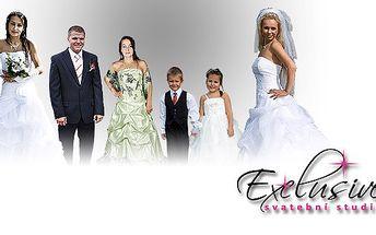 nejkrásnější nevěstou v luxusních svatebních šatech od firmy Exclusive
