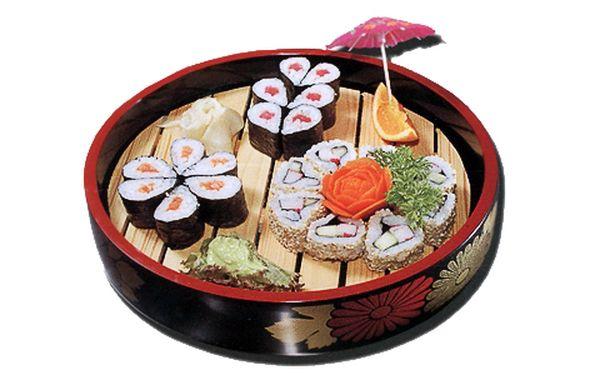 Happy Sushi Set 6! Najdete v něm 20 ks chutných maki sushi s lososem, tuňákem a krabem a okurkou! Ochutnejte malá kulinářská dílka starých Japonců!