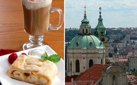 69 Kč místo 154 Kč za kávu Latté a domácí jablkový závin ve vyhlídkové kavárně na Hradčanském náměstí pod rampou Pražského Hradu. Vychutnejte si nádherný výhled na celou Prahu z této stylové kavárny s 55% slevou.