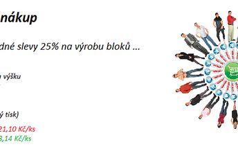 Potištěné bloky vaším logem na formáty A5 a A4 se slevou 25%