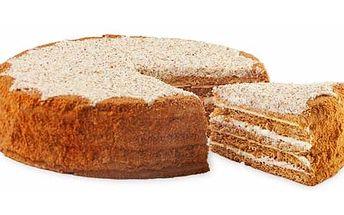 Nejoblíbenější pochoutka, která uspokojí i toho nejnáročného gurmána - medový dort Medovníček! Tentokrát 1 600g!