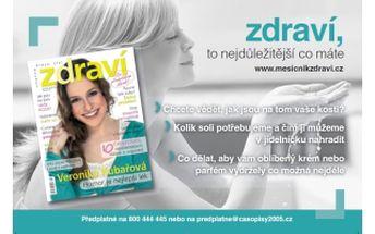 49 % jen 195,- Kč za roční předplatné časopisu ZDRAVÍ - dlouhodobě nejčtenějšího časopisu o zdraví a zdravém životním stylu