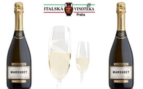 Hýčkejte své chuťové pohárky a ochutnejte lahodné italské Prosecco s 56% slevou. DVĚ láhve tohoto jiskřivého vína z italského vinařství Marsuret za bezkonkurenčních 397 Kč.