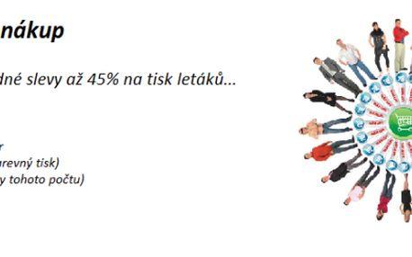 Leták A5 se slevou 45% - cena po slevě 3,70 Kč (obvyklá cena je 6,70 Kč bez DPH)
