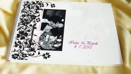 370 Kč za svatební knihu hostů na přání v původní hodnotě 495 Kč