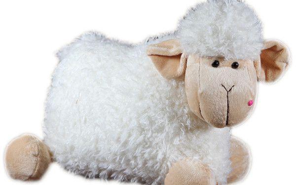 Plyšový polštářek - ovečka