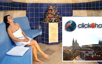 Click4Hotel.eu Vám nabízí wellness pobyt v Praze ve 3hvězdičkovém hotelu pro 2 osoby s neomezeným vstupem do wellness, fitness a bazénu a hodinovou plavbou po Vltavě.