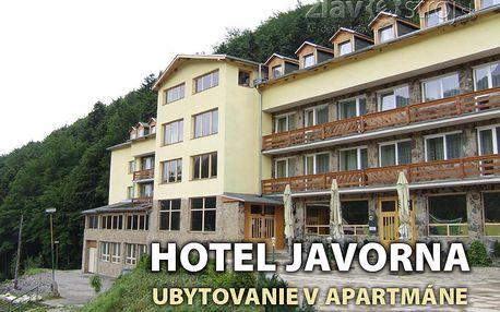 Víkendový pobyt pro dvě osoby na 1 noc v apartmánu hotelu Javorna na Drienici, se snídaní, s vitálním světem a bazémni jen za 13