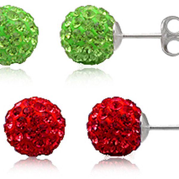 Stříbrné náušnice s krystaly Swarovski ve dvou barevných variantách, průměru 8mm dodávané v dárkovém balení z organzy v barvě vybraných náušnic! vyberte si tu která se Vám lépe hodí k šatům!