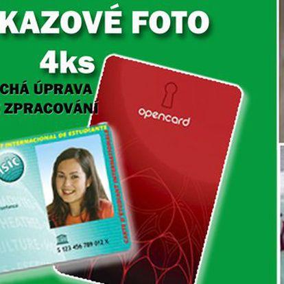 Jen 69 Kč za 4 průkazové fotografie na počkání v hodnotě 149 Kč. Fotografie na řidičský i občanský průkaz nebo open card se slevou 54%.