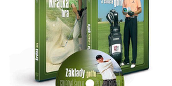 Trápí vás krátká hra, potřebujete si procvičit základy golfu, nebo projít rychlokurzem golfových pravidel a etikety? Využijte slevy více než 51% a získejte trojbalení DVD Golfová škola Petra Mrůzka za 345 Kč, včetně poštovného. Nepodceňujte teoretickou vý