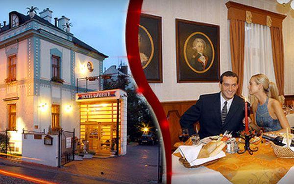 Konzumace ve čtyřhvězdičkovém hotelu Lafayette v hodnotě 500 Kč se slevou 51 % jen za 249 Kč!! Dopřejte si vynikající jídlo na úrovni v příjemném hotelovém prostředí a ušetřete s námi 251 Kč!! Plánujete oslavit narozeniny, státnice, promoce nebo dokonce s