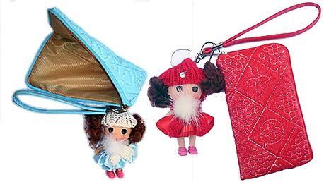 Novinka! Dívčí pouzdro na mobil! Včetně hračky - panenky!