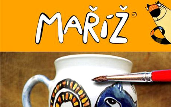 Kreativní malování s keramikou Maříž ® – namalujte si 2 originální hrnky za pouhých 199Kč oproti původním 400Kč, sleva 50% -