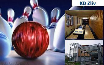 Bowling za polovic! Poze 100 Kč za 1 hodinu, 1dráhu v Bowling baru v KD Zliv. Super velikonoční 50% sleva