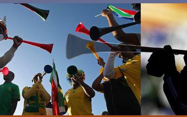 Vyzkoušejte si opravdovou atmosféru fotbalového mistrovství světa v Africe. Velké barevné Vuvuzely nyní se slevou 65%!