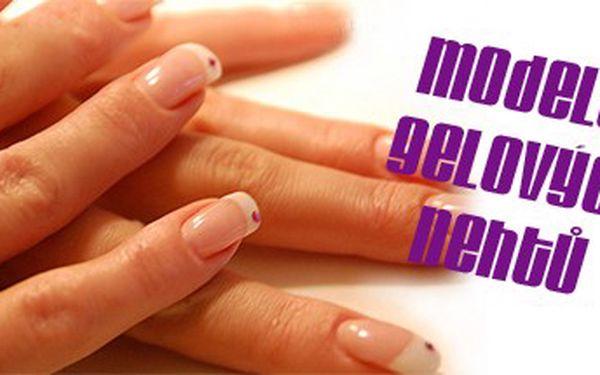 Modeláž gelových nehtů a francouzská manikůra UV gelem - oslňte své okolí pouze nyní za jedinečných 499 Kč.